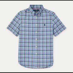 NWT Ralph Lauren Plaid Cotton Poplin Shirt Sz. L